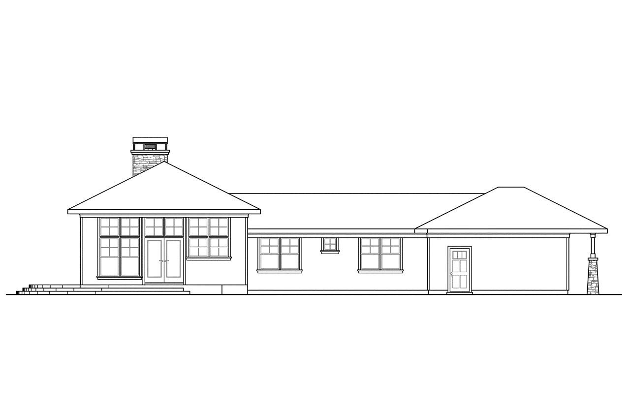 House  plans  with expansive  rear  view  House  design  plans