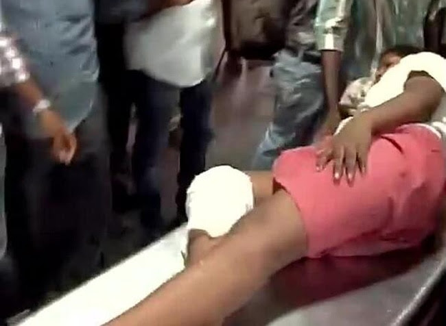 Injured were being brought to Rajiv Gandhi hospital in Chennai.