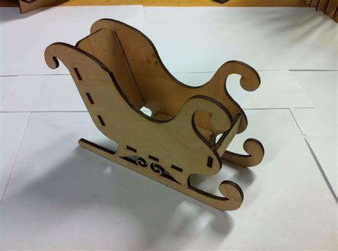 Wooden Laser Cut Santa Sleigh Christmas Craft Accessory