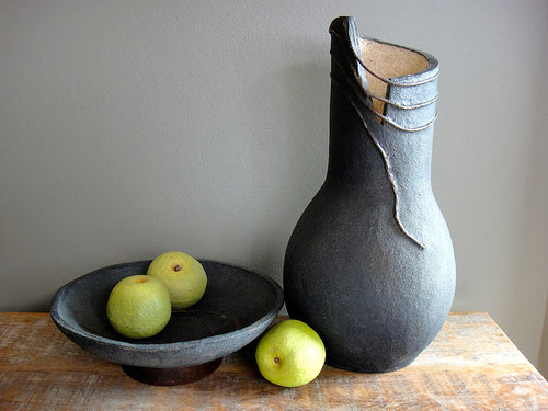 paper mache fruit and vessels