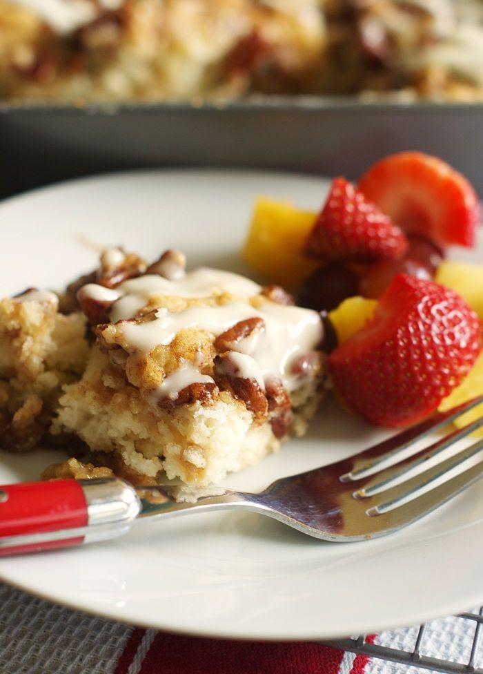 maple pecan biscuit breakfast cake