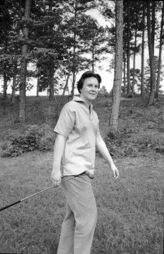 Harper Lee is shown playing golf at a country club in Monroeville, Alabama,  in this undated photograph.