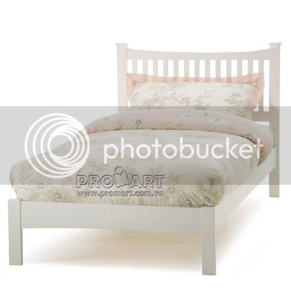 Giường đơn Cheshire 1.2m x 2m, màu trắng