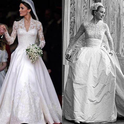 Grace Kelly vs Kate Middleton?s Wedding Dress ? RACHAEL