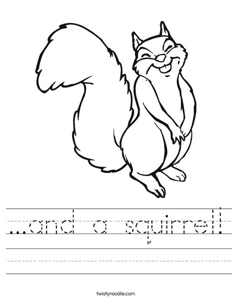 and a squirrel Worksheet - Twisty Noodle