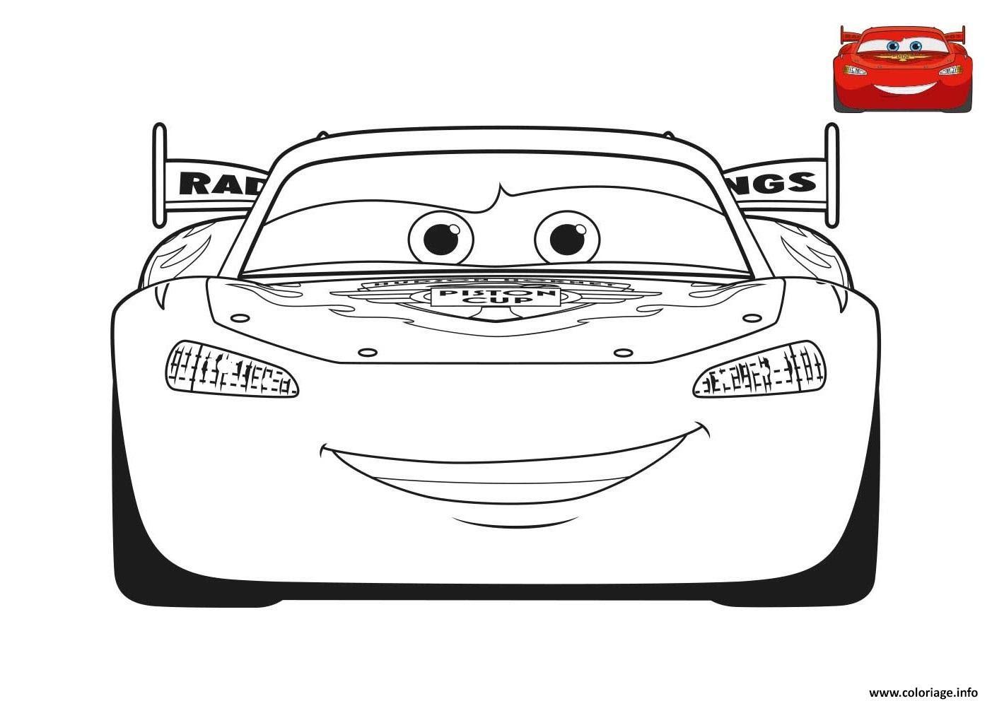 Coloriage Film Cars 3 Flash Mcqueen Voiture Rouge Jecoloriecom