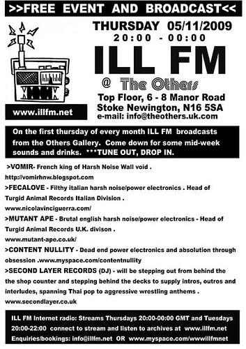 ILL FM - November 5th 2009, Vomir + more...