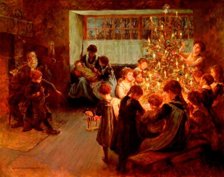 το χριστουγεννιάτικο δέντρο - Albert Chevallier Tayler - 1911
