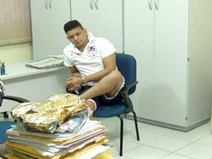 Lindenjohnson Silva Ferreira Filho foi preso na manhã desta sexta-feira (27), em Natal (Foto: Reprodução/Inter TV Cabugi)