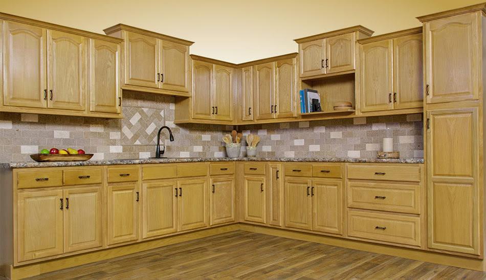 Walnut Ridge Cabinetry Appalachian Oak Kitchen Cabinet ...