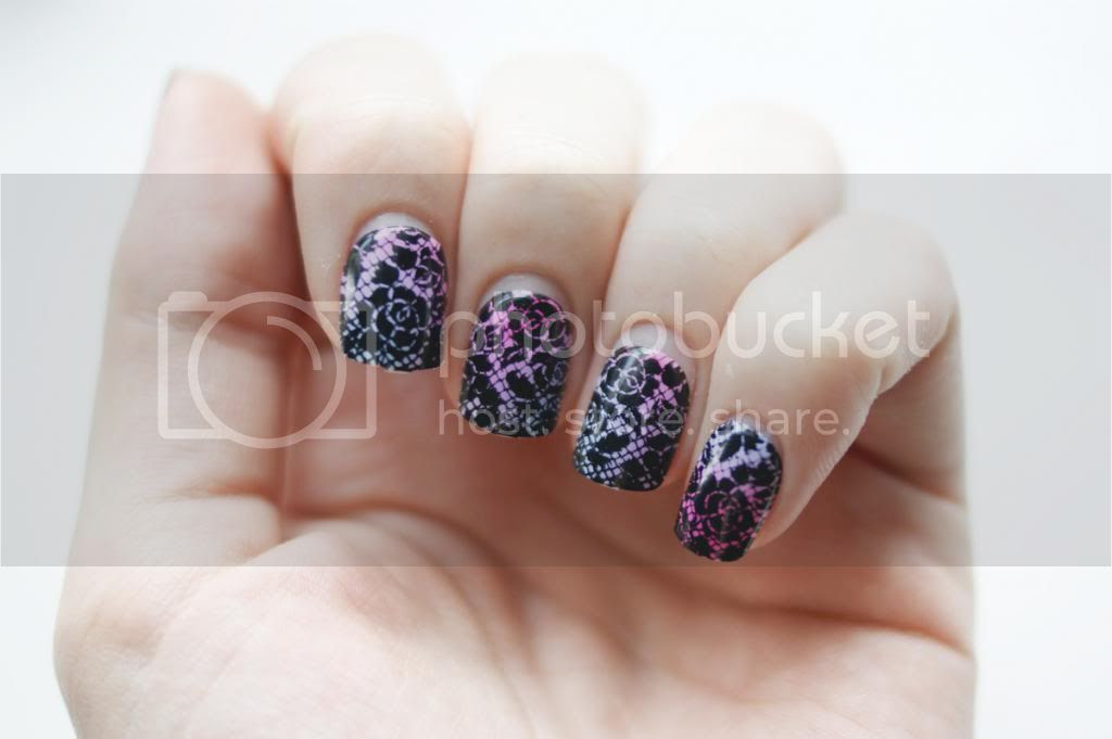 Mani Monday #14 imPress Press-On Manicure Disney Villians Evil Queen nails ombre lace Influenster VoxBox