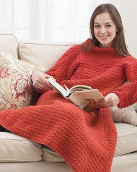 Crochet Afghan with Sleeves