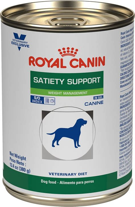 royal canin veterinary diet satiety support canned dog