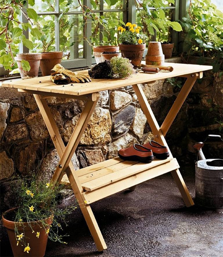 Simple Potting Bench/Console Table - MPG-