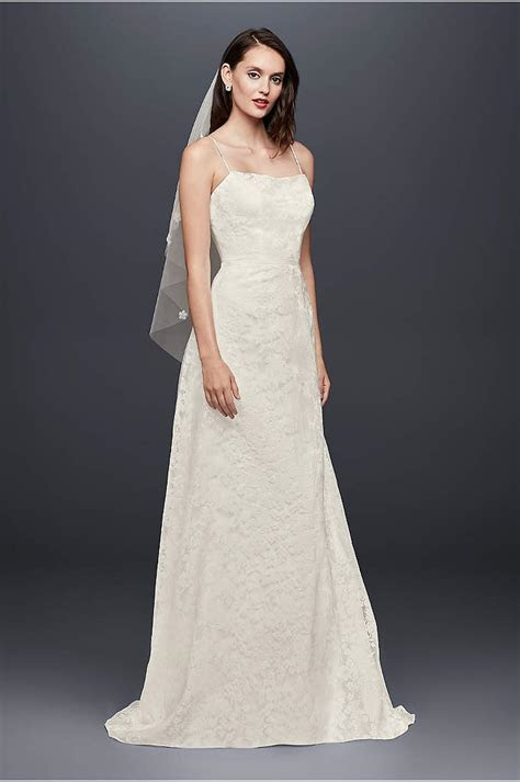 Illusion Lace Halter Sheath Wedding Dress   David's Bridal