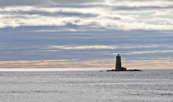 lighthouse, viewed from Fort Foster, Kittery Point, Maine