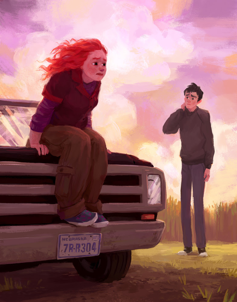 siminiblocker:  One last Eleanor and Park illustration.*  *Probably. I think.  OMG