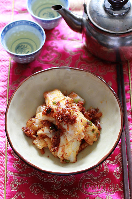 Pan Fried Cheong Fun with XO Sauce