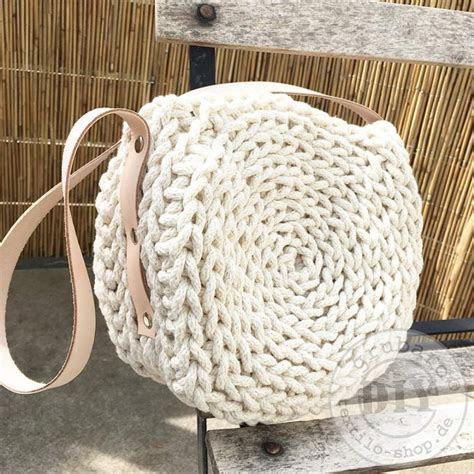 haekeltasche aus strickschnur leinen textilo blog