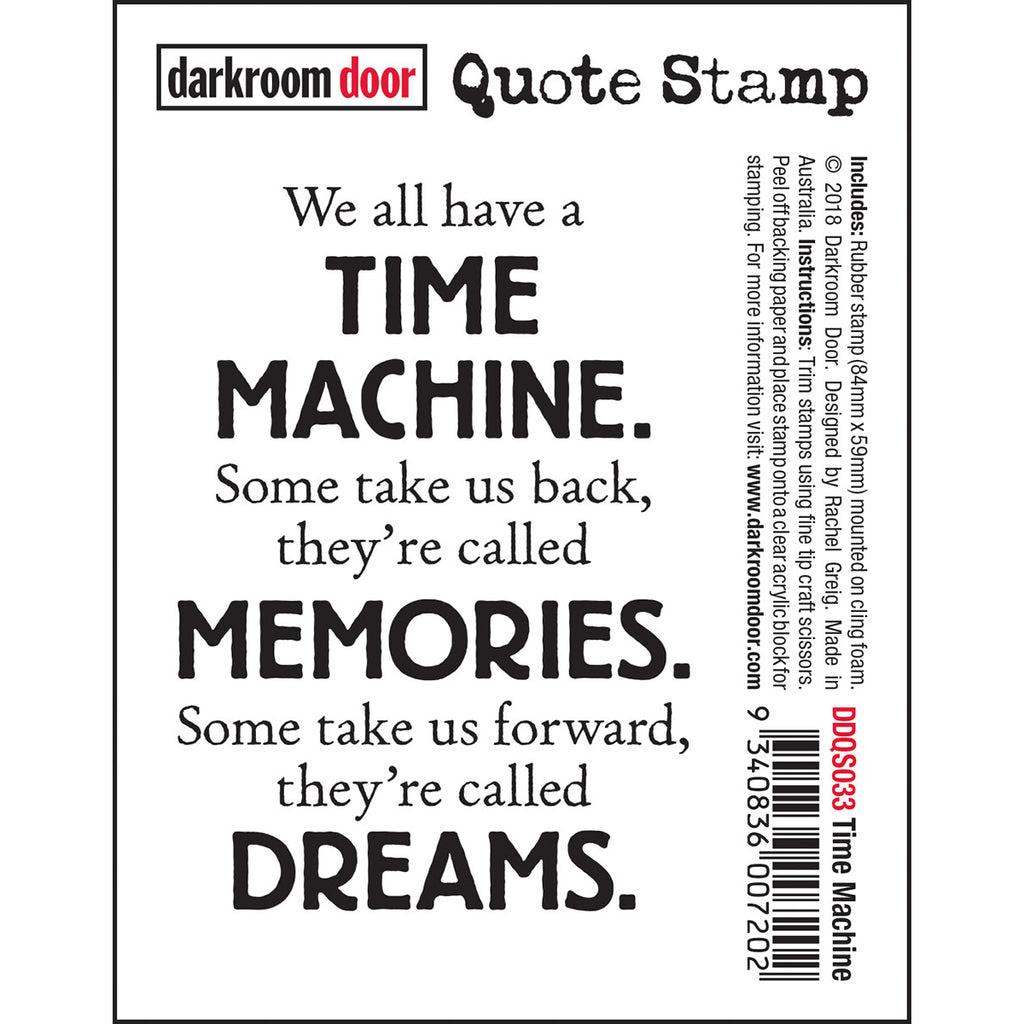 Darkroom Door Quote Stamp Time Machine Art By Jenny Online Shop