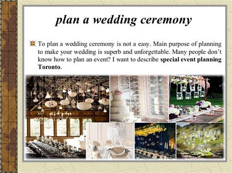 How to Plan an Event   Wedding Ceremony   Special Event