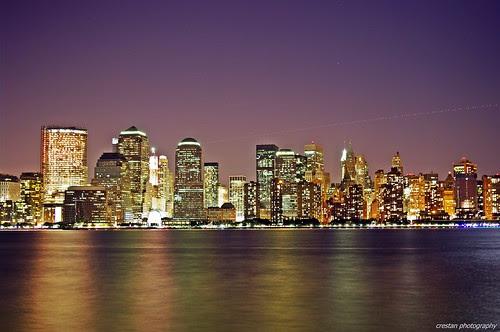 pictures of new york skyline at night. New York Skyline @ NIght