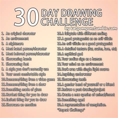 day drawing challenge  tumblr