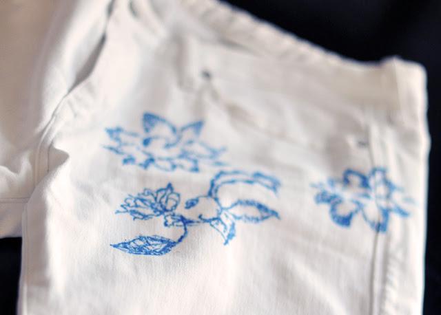 DIY floral jeans-7-1