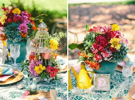 Picture Of Awesome Colorful Wedding Table Settings