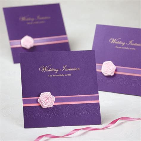 Online Get Cheap Wedding Card Samples   Cards   Purple