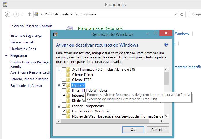 Ativando o Hyper-V no Windows 8 (Foto: Reprodução/Edivaldo Brito)
