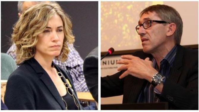 Marina Borrell i Agustí Colomines (ACN)