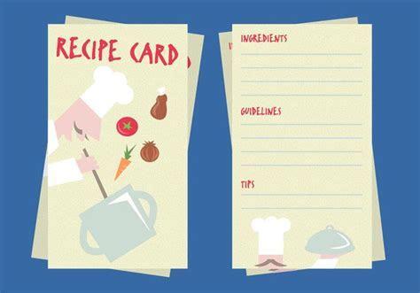 Recipe Card Illustration Vector   Download Free Vector Art