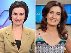 Antes e depois: Fátima com os cabelos alisados e atualmente  (Foto: TV Globo)