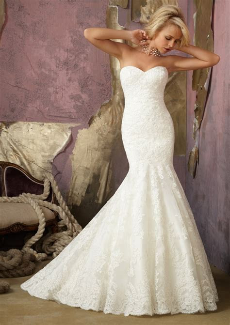 Lace on Organza Wedding Dress with Wide Hemline   Style