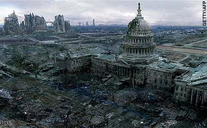 A post-nuclear Washington DC, as envisioned in Fallout 3 by Bethesda Softworks - not al-Qa'eda