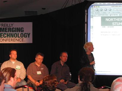 Warblogging panel at Etech 2003