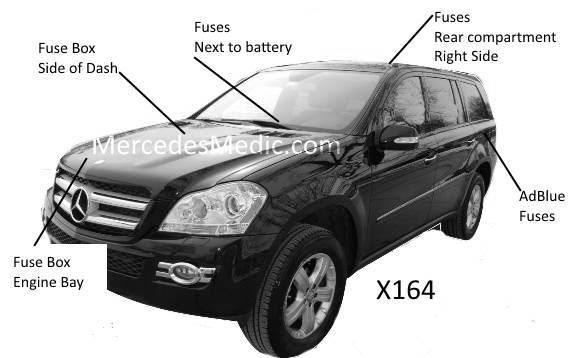 Gl Fuse Chart 2007 2012 Diagram Chart Location X164 Mb Medic