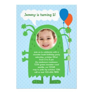 Monster Bash Photo Birthday Party Invitation