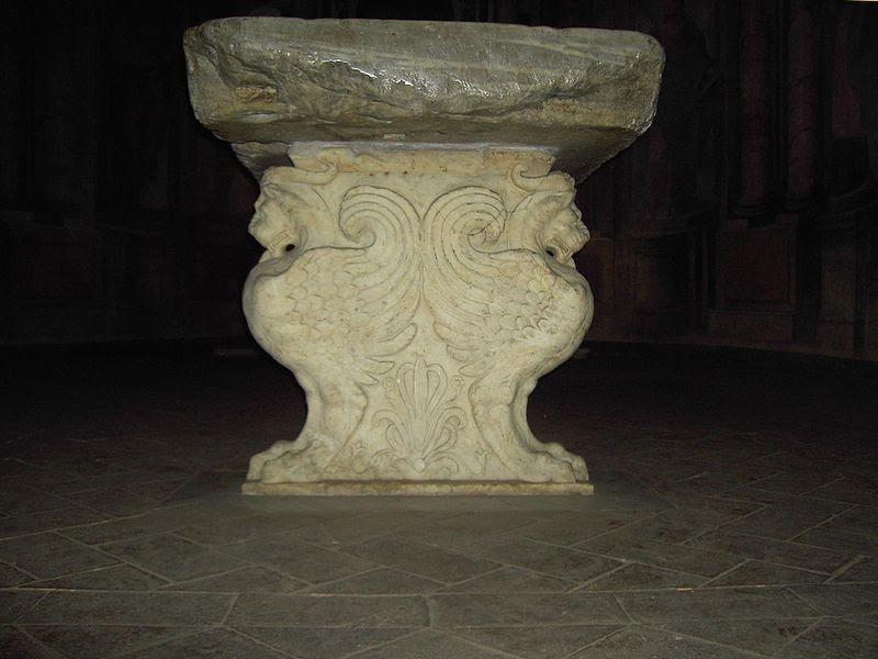 Celio - san Gregorio - oratori - mensa pauperum 1746.JPG