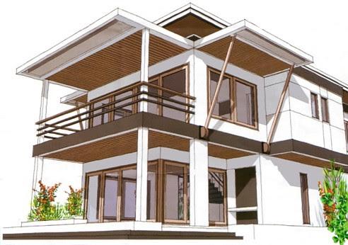 Arsitek Rumah minimalis modern Gambar Desain Rumah Tropis