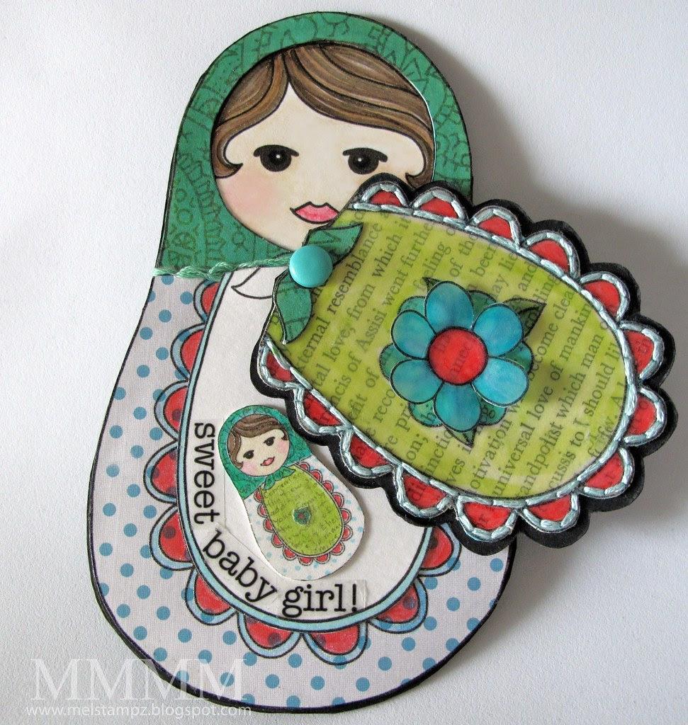 Squigglefly OPEN Babushka Matrushka Baby melstampz