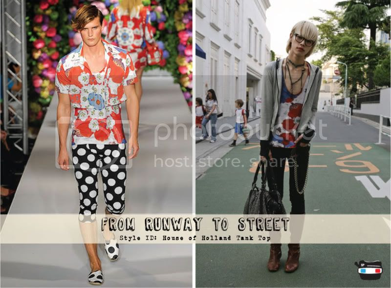 From Runway To Street - House of Holland Tank Top @ StreetStylista.Guy