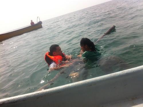 Ming Jin doing lifeguard stuff