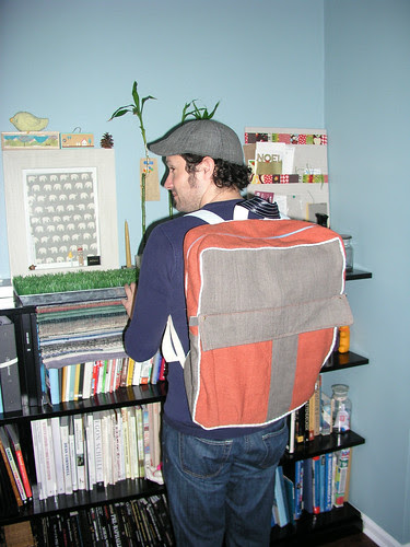 Sal modeling the backpack