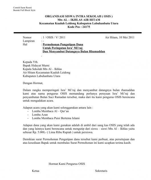 Contoh Surat Undangan Resmi Untuk Kepala Sekolah Dalam ...