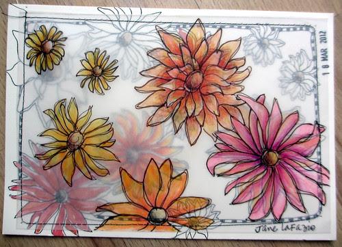 layered postcards