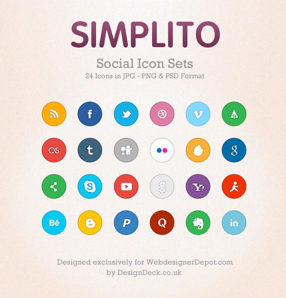 A free social icon set