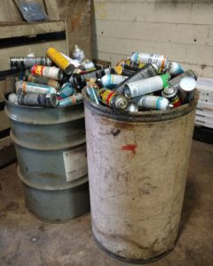 RCRA Audit Finds Improper Flammable Hazardous Waste Storage And Labeling