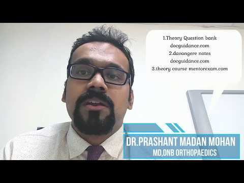 How to pass DNB MS Orthopaedics theory and practical exams - Dr.Prashant Madan Mohan